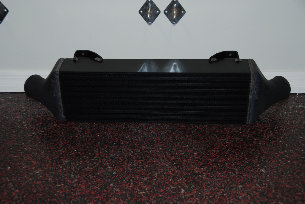 Anodized intercooler.