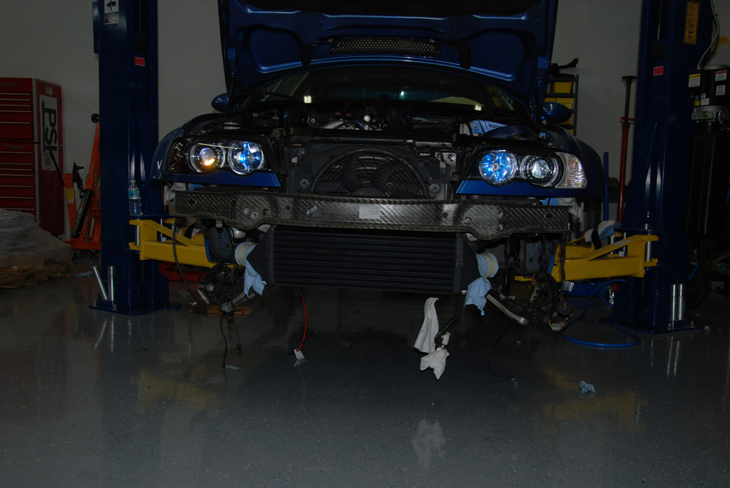 Intercooler on thecar