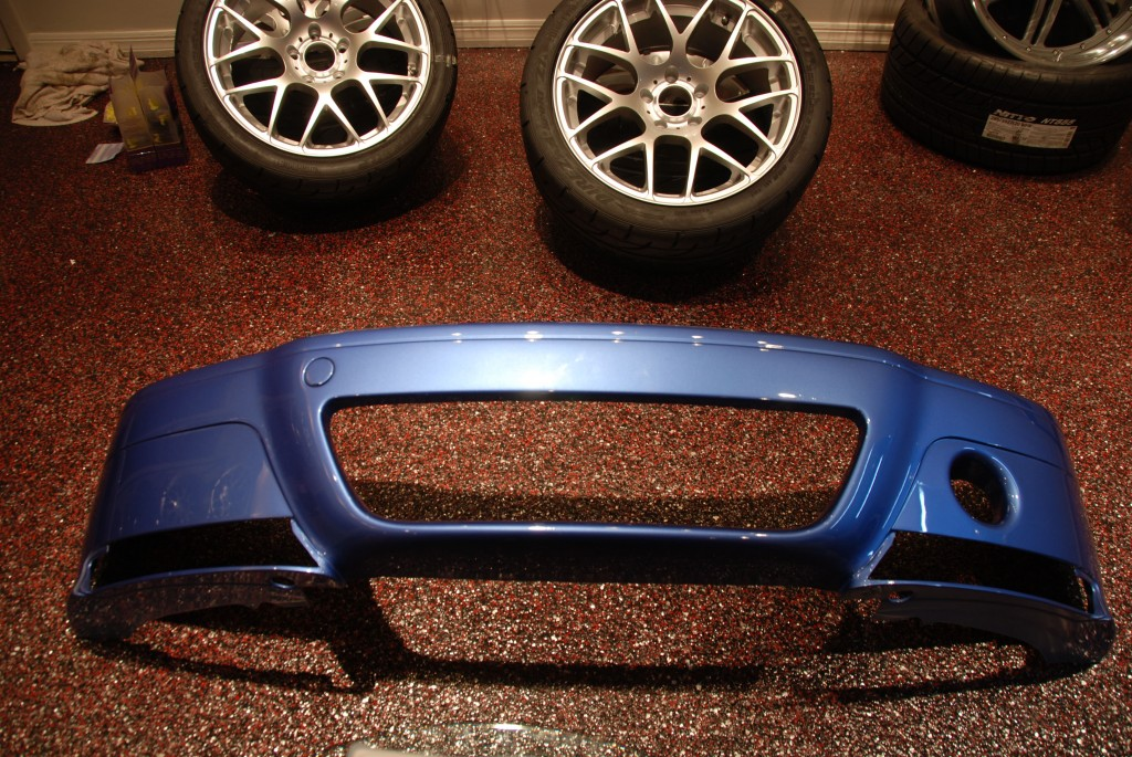 Vorsteiner CSL bumper and V710s that at the time were waiting to go on the car.